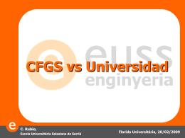 La experiencia del reconocimiento de créditos entre CFGS