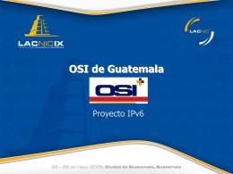 Implementación IPv6 OSI Guatemala