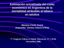 Productividad perdida por mortalidad prematura atribuible al tabaco