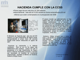 Hacienda cumple con la CCSS