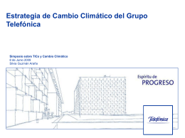 Estrategia de Cambio Climático del Grupo Telefónica
