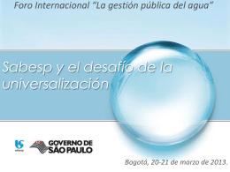 Apresentação Sabesp - Acueducto de Bogotá