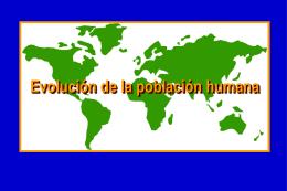 Evolucion y origen de la poblacion humana