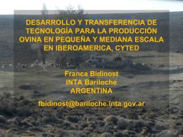 INTA Bariloche Argentina