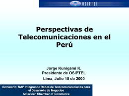 Perspectivas de Telecomunicaciones en el Perú