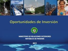OPORTUNIDADES DE INVERSIÓN EN PANAMÁ