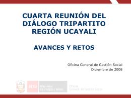 Exposición Cuarta Reunión del Diálogo Tripartito Región Ucayali