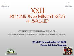 XIII REUNION DE MINISTROS