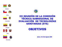 III REUNIÓN DE LA COMISIÓN TÉCNICA SUBREGIONAL DE