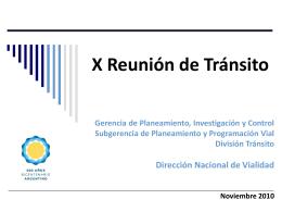 Foro de Tránsito - SeLIT - Dirección Nacional de Vialidad