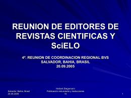 REUNION DE EDITORES DE REVISTAS CIENTIFICAS Y SIELO