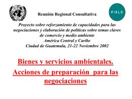 Reunión Regional Consultativa Proyecto sobre