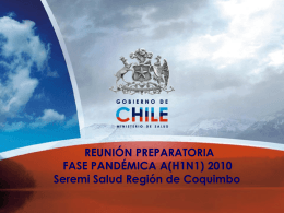 Reunion Preparatoria.. - Servicio de Salud Coquimbo