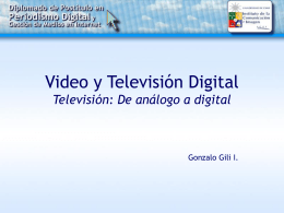 TV y Video Digital - Clase 1 - Instituto de Comunicación e Imagen