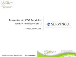 CDO EST Servinco