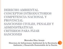 Dra. M. Díaz Araujo - Secretaría de Ambiente y Desarrollo Sustentable