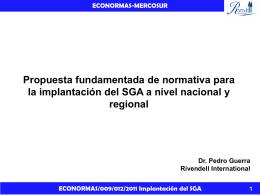 Implantacion del SGA a nivel nacional y regional ()