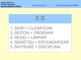 5s, 7 Tecnicas, QC, TCL