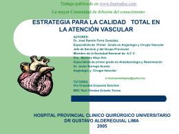 estrategia para la calidad total en la atención vascular