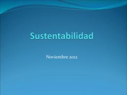 Sustentabilidad presentación