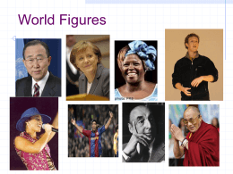 PowerPoint Presentation - World Figures