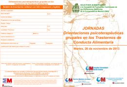 jornadas_tca_2013_diptico - Asociación Española de Psicodrama