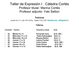 presentacióno y primera parte - Taller de expresión I (cátedra Cortés)