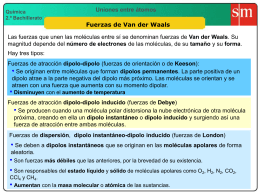 6 Fuerzas de Van der Waals