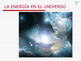 El cosmos contiene energía bajo diversas formas