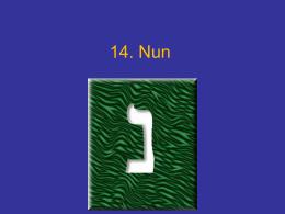 Letra Nun