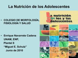 La Nutrición de los Adolescentes