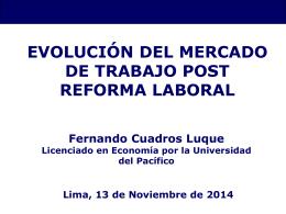 Evolución del mercado de trabajo post reforma laboral