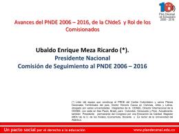 Región Caribe - Plan Nacional Decenal de Educación 2006-2016