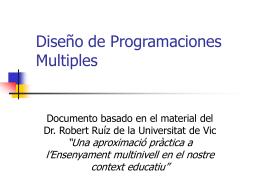 Diseño de Programaciones Multiples