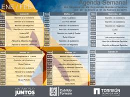 Agenda Semanal - Ayuntamiento de Torreón