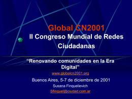 Global CN2001 II Congreso Mundial de Redes