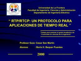 RTP/RTCP: UN PROTOCOLO PARA APLICACIONES DE TIEMPO