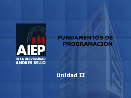 Clase IV Fundamentos - ingenieriainformaticaaiep