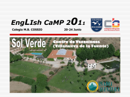 ENGLISH CAMP - Colegio MB Cossío