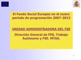 el fse - Ministerio de Empleo y Seguridad Social