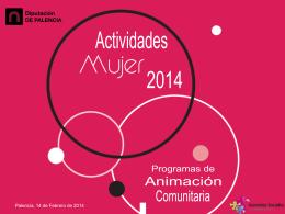 Actividades Mujer 2014 - Diputación de Palencia