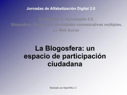 La Blogosfera es un espacio de referencia