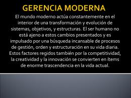 GERENCIA MODERNA