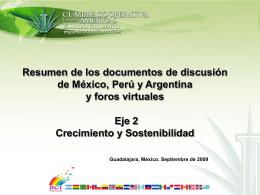 Resultados de México. Eje 2 Crecimiento y Sostenibilidad
