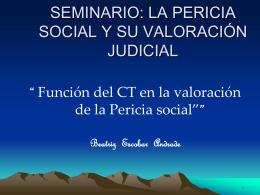 Seminario La Pericia Social y su Valoración en el Proceso