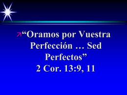 Perfección en Cristo