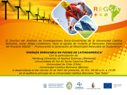 Seminario Internacional REGSA