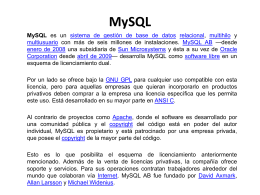 MySQL.