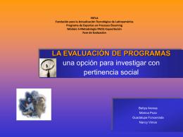 la evaluación de programas - fatla-grupoa