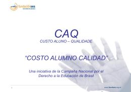 Costo Alumno Calidad en castellano